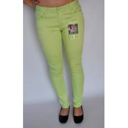 Zielone spodnie rurki bawełna