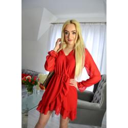 Sukienka szyfonowa czerwona