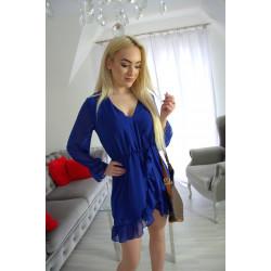 Sukienka szyfonowa chabrowa