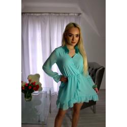 Sukienka szyfonowa miętowa
