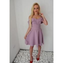 Liliowa sukienka na...