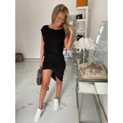 Sukienka asymetryczna czarna