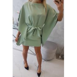 Sukienka nietoperz miętowa