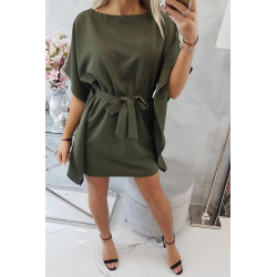Sukienka nietoperz khaki