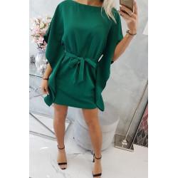 Sukienka nietoperz zielona