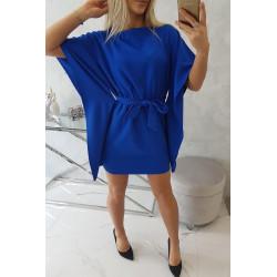 Sukienka nietoperz chabrowa