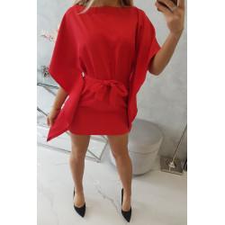 Sukienka nietoperz czerwona