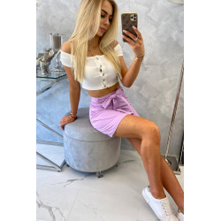 Spódnica kopertowa fioletowa