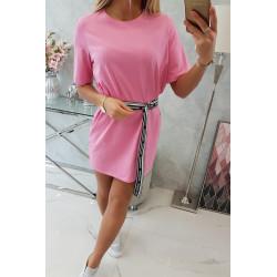 Tunika z paskiem różowa
