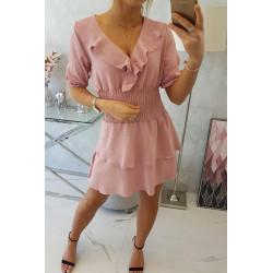 Sukienka taliowana różowa