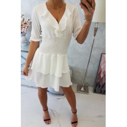 Sukienka taliowana biała