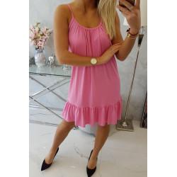 Letnia luźna sukienka różowa