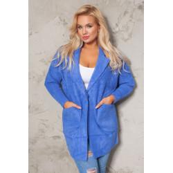 Płaszcz alpaka niebieski