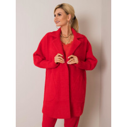Płaszcz alpaka czerwony
