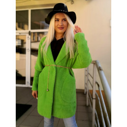 Płaszcz alpaka zielony